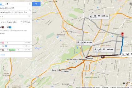 Google Maps Transit por fin en México; ofrece rutas en DF
