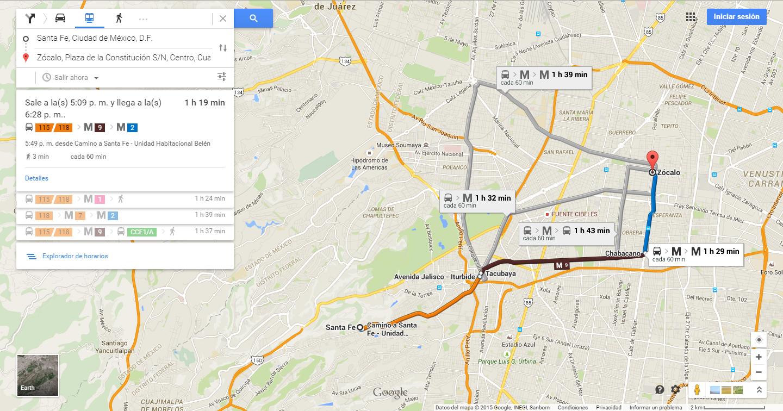 Google Maps Transit por fin en México