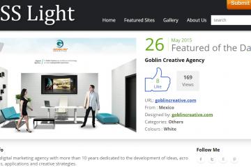 CSS Light reconoce a Goblin Creative como el Sitio de Día