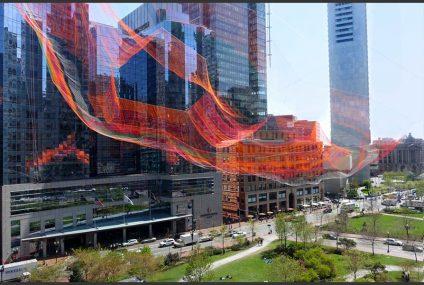 Arte y tecnología representa las variantes del clima