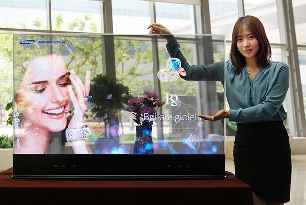 Samsung presenta la primer pantalla OLED transparente