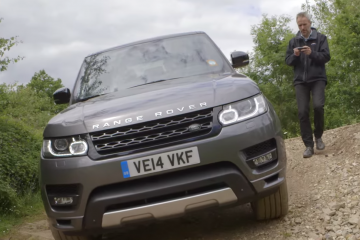 Range Rover Sport conducido con un Smartphone